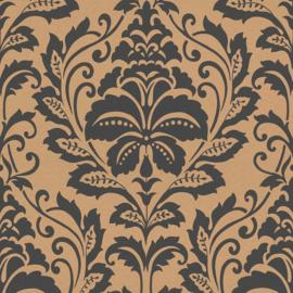 barok behang  zwart brons 36910-4