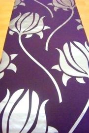paars tulp vlies modern behang 112