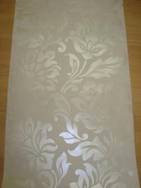 behang bloemen parelmoer 169