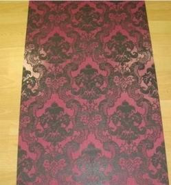 barok behang vinyl zwart roze 114