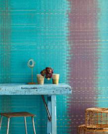 Eijffinger Sundari Wallpower 375201 Paper Weave blue