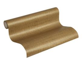 Kroko behang goud metalic 37101-0