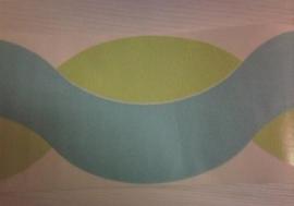 behang randen blauw groen 54