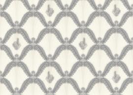 grijs creme klassiek hermitage behang 891068