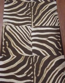 bruin wit zebraprint dierenprint behang 42