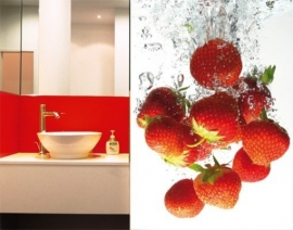 Mantiburi Fotobehang Strawberry Bath 38