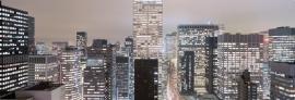 4-258 Komar Fotobehang Metropolitan mooie stads uitzicht behang