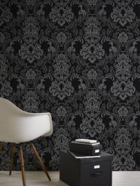 Zwart barok behang 36166-3