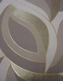 Retro behang Trendy bruin glinster 4112-50