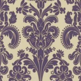 9698-09 paars beige modern barok behang