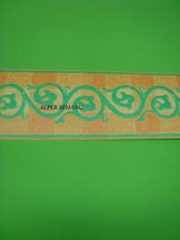 behangrand groen oranje modern 57