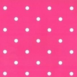 meisjes behang roze met witte stippen stijlvol behang