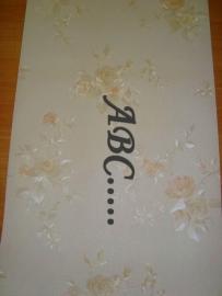 engelse wit  zalm bloemen behang