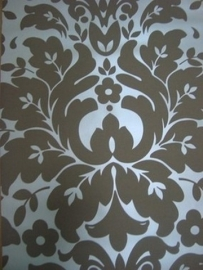 bruin behang barok vinyl 38