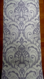 barok grijs glitter vinyl behang  x210
