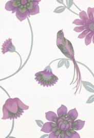 vogel bloemen behang 1214-6