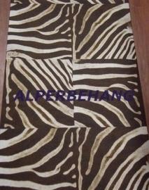 bruin beige zebraprint patchwork vlies behang voelt als een leer 199