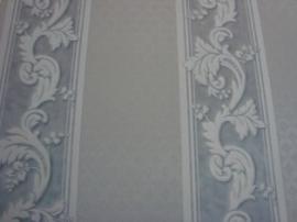klassiek behang wit grijs bloemen behang 3