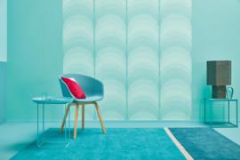 blauw retro behang vlies 36675-3