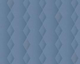 Retro behang blauw glitter 35692-3
