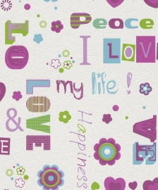 LOVE&PEACE BEHANG - Rasch Kids & Teens 478419