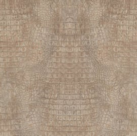 Curious kroko behang metallic 17951