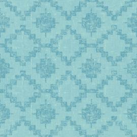 blauw retro behang vlıes 36375-4
