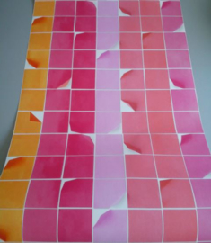 Retro behang rood rose oranje 15070