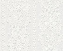 Bloemen behang wit 261618