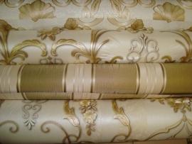 hermitage vinyl goud bloemen combi behang 174