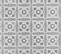 kant tafelzeil tafelkleed wit bloemetjes  ptx15