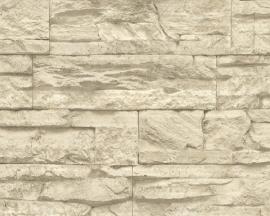 707130 BEIGE creme steen vlies behang