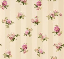 Bloemen behang Romantica bloemen beige paars 30447-2 AS Creation