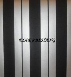 zwart zilver 3d effekt vinyl behang