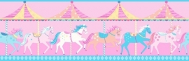 Dutch Carousel behangrand DLB50080 Horses