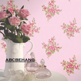 rose bloemetjes behang xx7