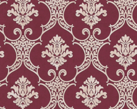 bordeaux rood barok behang 32830-5