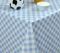 blauw wit ruiten tafelzeil geblokt 5731430