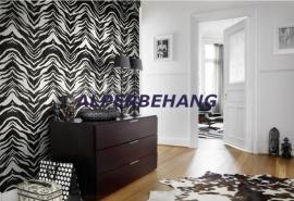 zebraprint dierenprint zwart wit behang 319