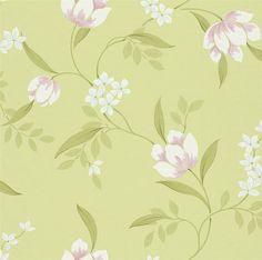 Groen bloemen behang rasch 798852
