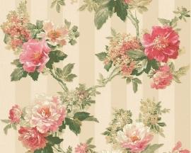 Behang Bloemen crème roze AS Romantica 30446-3