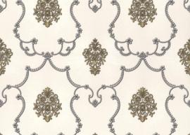 grijs beige klassiek hermitage behang 887238