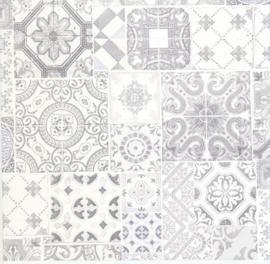 tegel behang grijs vlies xx95