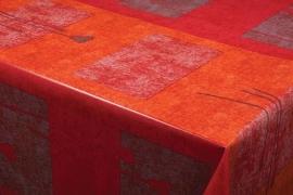 150-120 rood bloemen tafelzeil