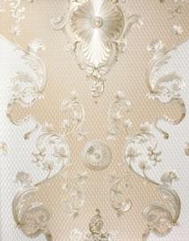 creme zalm goud kassiek hermitage vinyl behang 31