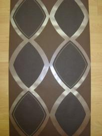 bruin behang retro zwart bruin zilver 50