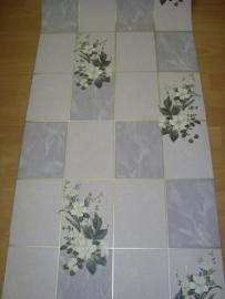 keuken behang tegels paars met bladeren vinyl xx25