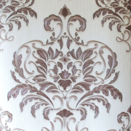 bruin barok behang metalic  02437-80