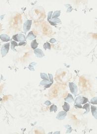 Bloemen behang beige 6359-08