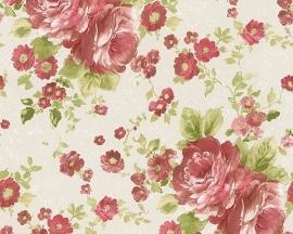 Behang Bloemen wit rood AS Romantica 30427-4